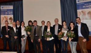 Gruppenbild mit Preisträger, RISKID Vorstand und Referenten